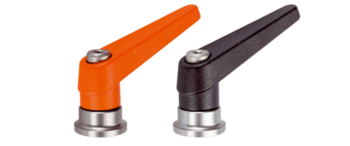 Adjustable Clamping Levers with axial bearing from stainless steel, with female thread