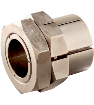Tapered Shaft Hubs with lock nut, stainless steel