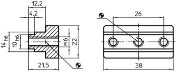 Lardons d'adaptation et de centrage des blocs système V40/V70  IM0000959 Zeichnung