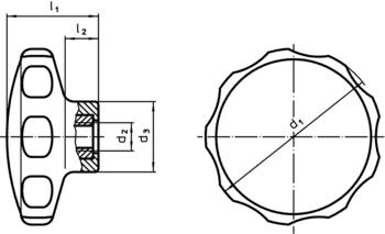Star Grips plastic  IM0001772 Zeichnung