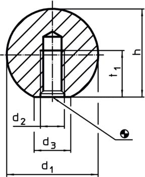 Ball Knobs metal types similar to DIN 319  IM0001781 Zeichnung