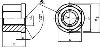 Collar Nuts DIN 6331 (height 1,5 d)  IM0002527 Zeichnung