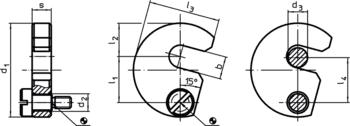 Captive C-Washers DIN 6371 with countersunk screw DIN 923  IM0003449 Zeichnung