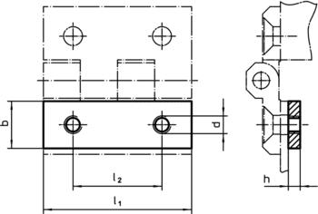 Threaded Plates for hinges  IM0009523 Zeichnung