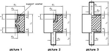 Rubber Metal Buffers  IM0000841 Zeichnung en