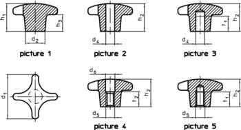 Palm Grips DIN 6335 cast iron, plastic-coated  IM0001109 Zeichnung en