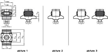 Taper Clamping Units plain / ribbed, M8  IM0007171 Zeichnung en