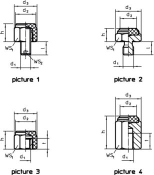Pins with plastic contact surface  IM0009912 Zeichnung en