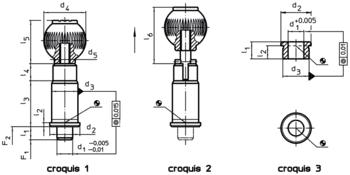 Doigts d'indexage de précision à douille cylindrique  IM0002992 Zeichnung fr