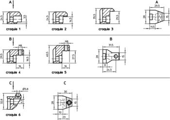 Mâchoires de serrage pour brides flottantes M 12  IM0008747 Zeichnung fr