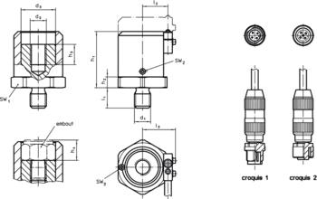 Accessoires pour unité de contrôle  IM0009899 Zeichnung fr
