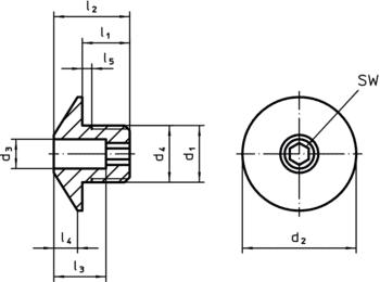 Douilles de positionnement pour doigts et verrous d'indexage  IM0010127 Zeichnung fr